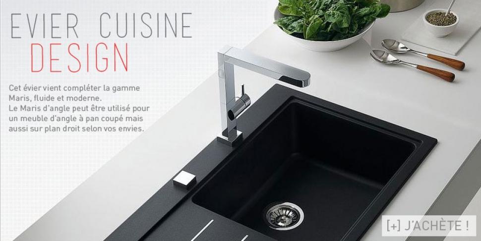 Evier cuisine design Maris