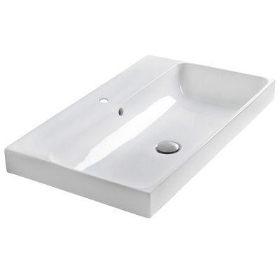 Lavabo en céramique Chrisitna Ondyna couleur blanc brillant