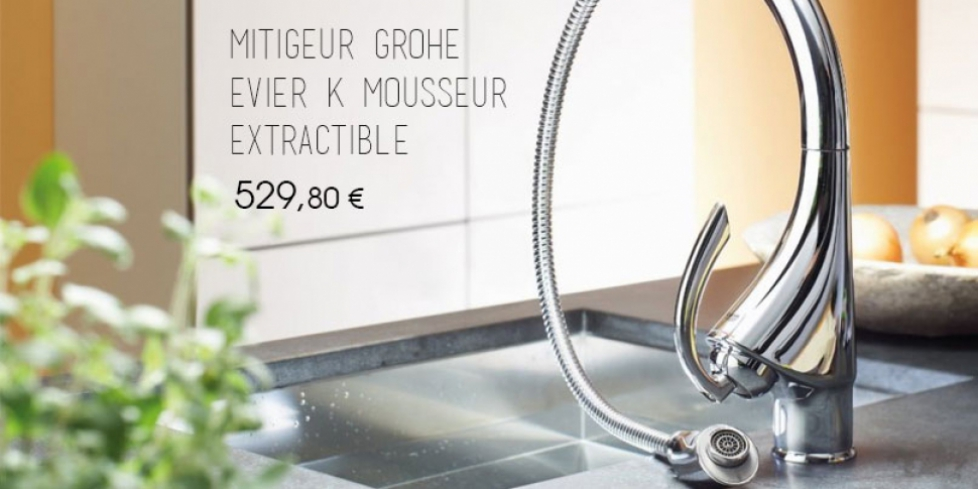 Mitigeur Grohe mousseur extractible