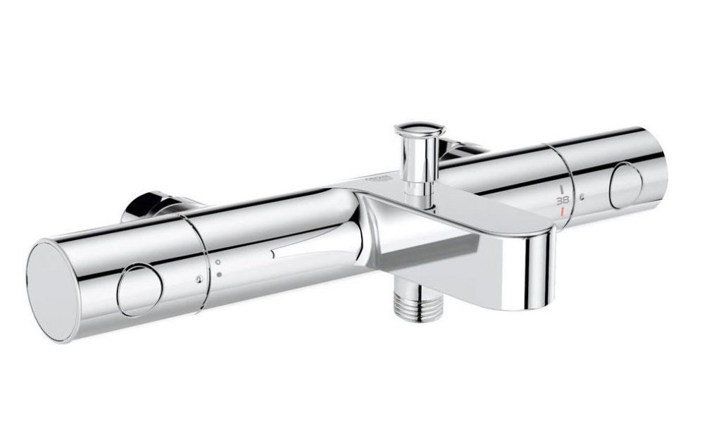 Mitigeur thermostatique bain douche Grohe Grohtherm 1000 cosmopolitain sans rosaces 34323000