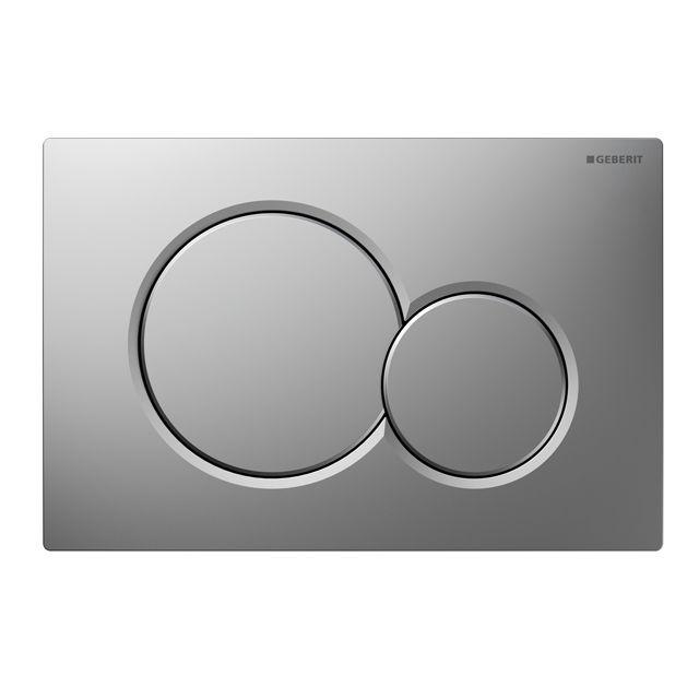 Plaque de déclenchement Sigma01 - Double touche - Chromé mat