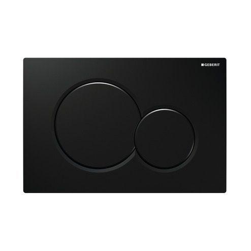 Plaque de déclenchement Sigma01 - double touche - Noir RAL 9005