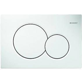Plaque de déclenchement Sigma01 - Synthétique - Double touche - Blanc