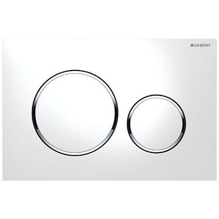 Plaque de déclenchement Sigma20 - Blanc / chromé brillant / blanc