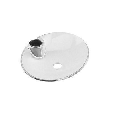 Porte savon transparent pour barre de doucheu 20 ou 25 mm