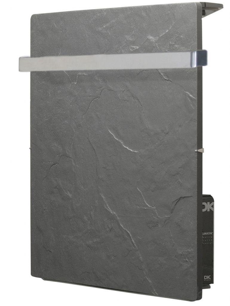 Sèche-serviettes design à inertie Valderoma Touch Silicium ardoise noire carré 800w AN08BST