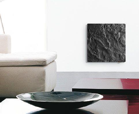 Valderoma Radiateur électrique Design ardoise noire Touch Silicium 800w