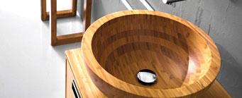 Vasque design en bois
